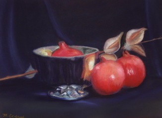 "Pastel on Mounted Paper 9 1/2 "" by 13"""