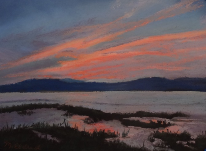 Just Before Sunrise 9 by 12 Pastel on Panel