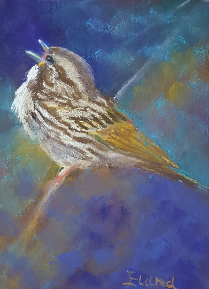 sparrow-painting