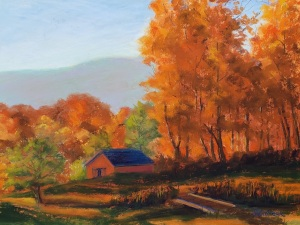 A second rendition of a sold painting. Used a new palette and resized the barn.